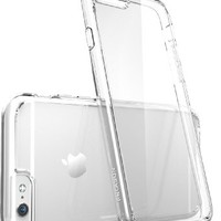 iPhone 6s Case, [Scratch Resistant] i-Blason Clear [Halo Series] Also Fit Apple iPhone 6 Case 6s 4.7 Inch Hybrid Bumper Case Cover (Clear)