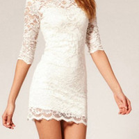 Super Sexy Slim Hollow out Lace Dress