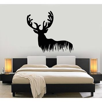 Vinyl Wall Decal Deer Wild Animal Forest Hunting Hobby Stickers Mural (g3028)