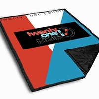 Twenty One Pilots Symbol Throw Blanket Large (58 X 80) Inches