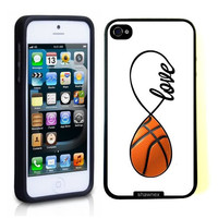 SudysAccessories Basketball Love Basketball Infinity Love Thinshell Case Protective iPhone 5 Case iPhone 5S Case