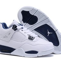 Kids Air Jordan 4 White/blue Sneaker Shoe Size Us 11c 3y | Best Deal Online