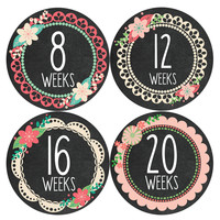 Pregnancy Baby Bump Week Stickers Style #914