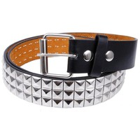 Chenier Studded Leather Belt