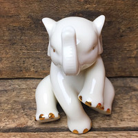 Lenox Sitting Elephant Porcelain Figure