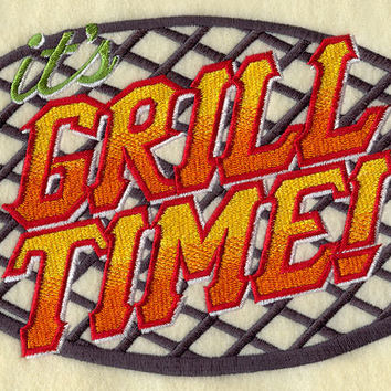 Grill Time Embroidered BBQ Apron Father's Day Gift, Birthday Gift, Host Gift