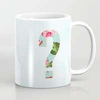Floral Letter question mark - Letter Collection Mug by Allyson Johnson | Society6