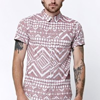 On The Byas Zone Woven Shirt - Mens Shirt - Red