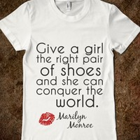 MARILYN MONROE RIGHT SHOES KISS PRINT QUOTE