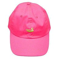 Hat in Neon Pink with Lime Duck by Southern Marsh