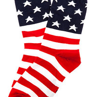 The 1776 Flag Socks in Red, White, and Blue