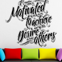 Vinyl Wall Decal Sticker A Creative Man Quote #5294