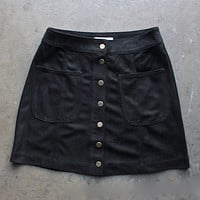 high standards suede skirt - more colors