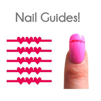 String of Hearts Vinyl Nail Guides