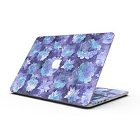 Purple Floral Succulents - MacBook Pro with Retina Display Full-Coverage Skin Kit