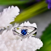Trendy 100% 925 Sterling Silver Women Wedding Ring with Natural Topaz Stone