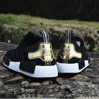 DCCKXI2 Adidas NMD Boots Fashion Sneaker sports shoes black-golden