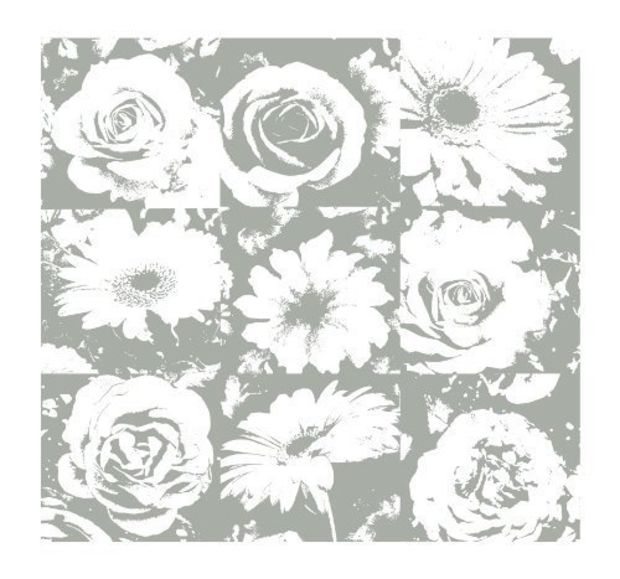 Wallpaper Border Zen Abstract  Flowers Grey Gray Taupe White 15 Feet 849 NIP