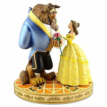 disney parks beauty and the beast rose statue figure maldovan new with box
