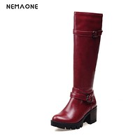 NEMAONE Hot 2017 New Fashion Sweet womens Thigh High Boots Spring Autumn Ladies Over The Knee Boots Casual Women Boots for Women