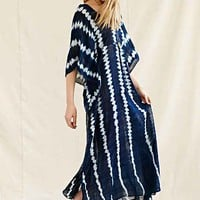 Proud Mary Shibori Caftan Dress- Blue One