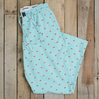 Savannah Oxford Lounge Pants in Antigua Blue by Southern Marsh