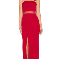 Mamya Maxi Dress in Red