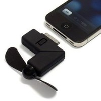 TOOGOO Black Newest Cool Dock Fan Gadgets Cooler for iPhone 4
