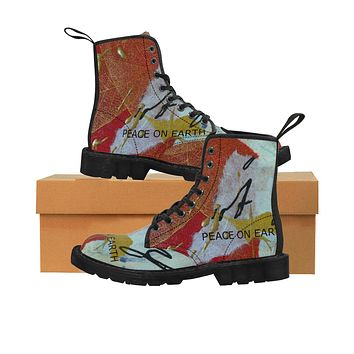 Peace on Earth Women's Canvas Boots