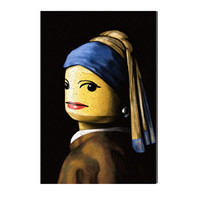 MONOQI | Toy with Pearl Earring Canvas