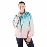 Ombre Windbreaker Jaded Aqua