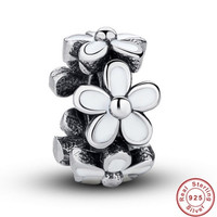 DARLING DAISY SPACER Bead / Charm 925 Sterling Silver Authentic fit Pandora Bracelet