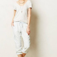NWT ANTHROPOLOGIE by CLOTH & STONE CROPPED CHAMBRAY CARGOS PANTS