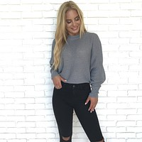 With Loving Arms Grey Crop Sweater Top