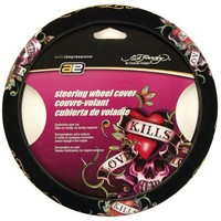 Ed Hardy Love Kills Steering Wheel Cover