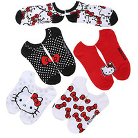 Sanrio Hello Kitty Bows No-Show Socks 5 Pair