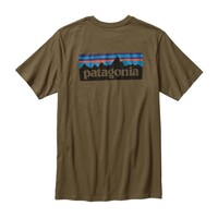 Patagonia Men's P-6 Logo Cotton T-Shirt | Fatigue Green
