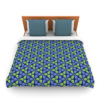 "Nick Atkinson ""Infinite Flowers Blue"" Lightweight Duvet Cover"