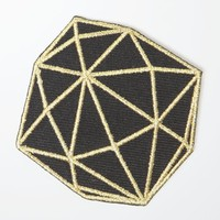 Ball and Chain Diamond Patch - Womens Scarves - Black - One
