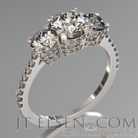 Pave diamond enagement Rings Antique style engagement ring Round Brilliant Cut Diamond halo engagement ring