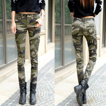 New Camouflage Slim Pencil Jeans