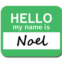 Noel Hello My Name Is Mouse Pad - No. 2