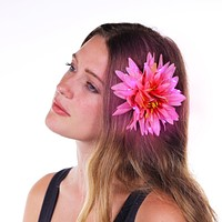 """Pink Light Up Glowing Hair Flower (5"""")"""