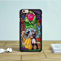 Beauty and The Beast Stained Glass iPhone 6 Case Dewantary
