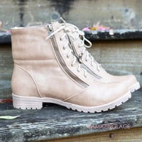 SZ 10 Smoky Mountain Expedition Nude Fold Over Boots