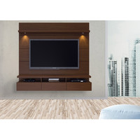 Manhattan Comfort Cabrini Theater Entertainment Center Panel in Nut Brown - BEYOND Stores
