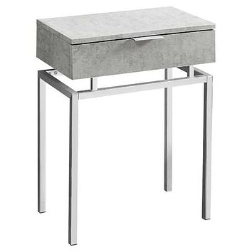 "Grey, Particle Board, Metal - Accent Table 12'.75"" x 18'.25"" x 23'.25"""