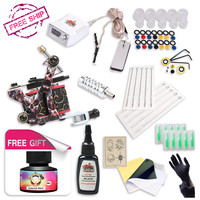 Free Ship Complete Professional Tattoo Kit With IMMORTAL High Quality USA Brand Ink As Gift Tattoo Power Supply