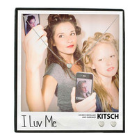 Kitsch I Luv Me Necklace & Earring Set Silver - 16 inches
