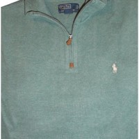 Men's Polo by Ralph Lauren Long Sleeve Pullover Sweater Heather Pine